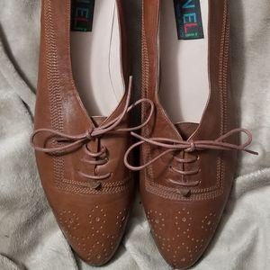 VANELi Tan Italian Leather Wingtip Oxfords